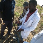 Testing the soil and all its minerals